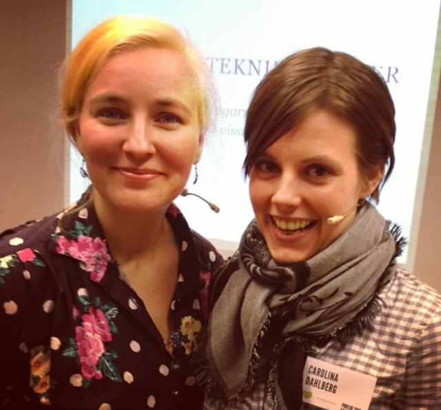 Arrangörsteknikaliteter - Anna-Karin Linder och Carolina Dahlberg