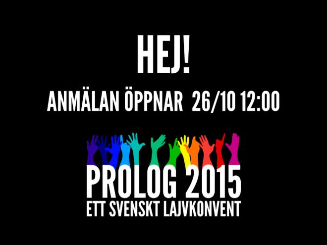 Prolog2015 - Anmälan öppnar